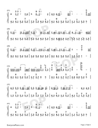 Paranoid-Ren Ran-Numbered-Musical-Notation-Preview-2