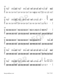 Paranoid-Ren Ran-Numbered-Musical-Notation-Preview-3