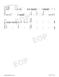 Paranoid-Ren Ran-Numbered-Musical-Notation-Preview-4
