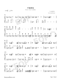 Never Say Goodbye-S.H.E-Numbered-Musical-Notation-Preview-1