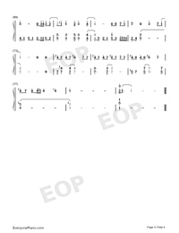 Never Say Goodbye-S.H.E Numbered Musical Notation Preview 4
