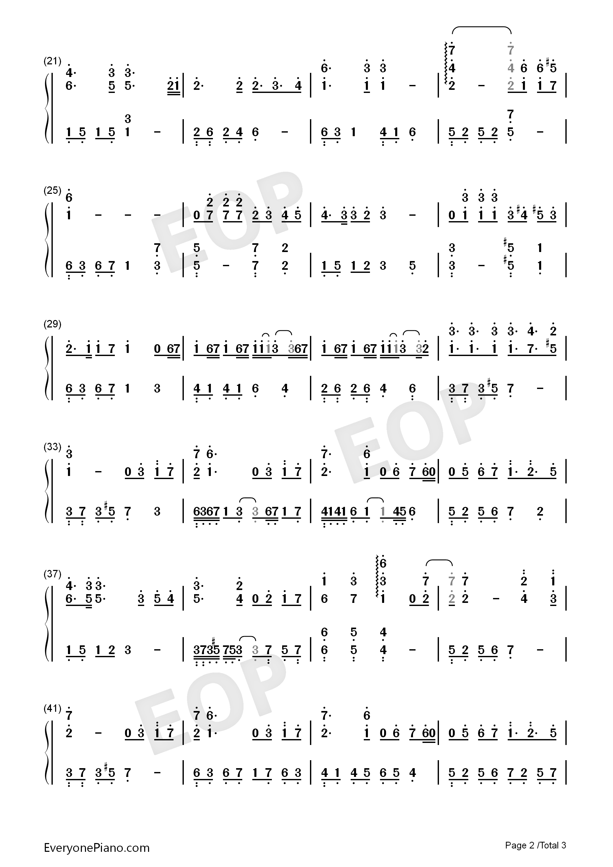 Fight for Future-Finding Soul Theme Numbered Musical Notation Preview 2