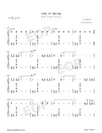 Lady of Spring-Joe Hisaishi-Numbered-Musical-Notation-Preview-1