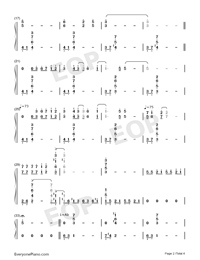 Lady of Spring-Joe Hisaishi-Numbered-Musical-Notation-Preview-2