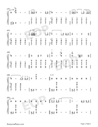 Lady of Spring-Joe Hisaishi-Numbered-Musical-Notation-Preview-3