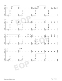 Lady of Spring-Joe Hisaishi-Numbered-Musical-Notation-Preview-4
