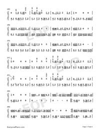 琵琶行-高考背書系列高三考生必聽曲目雙手簡譜預覽3