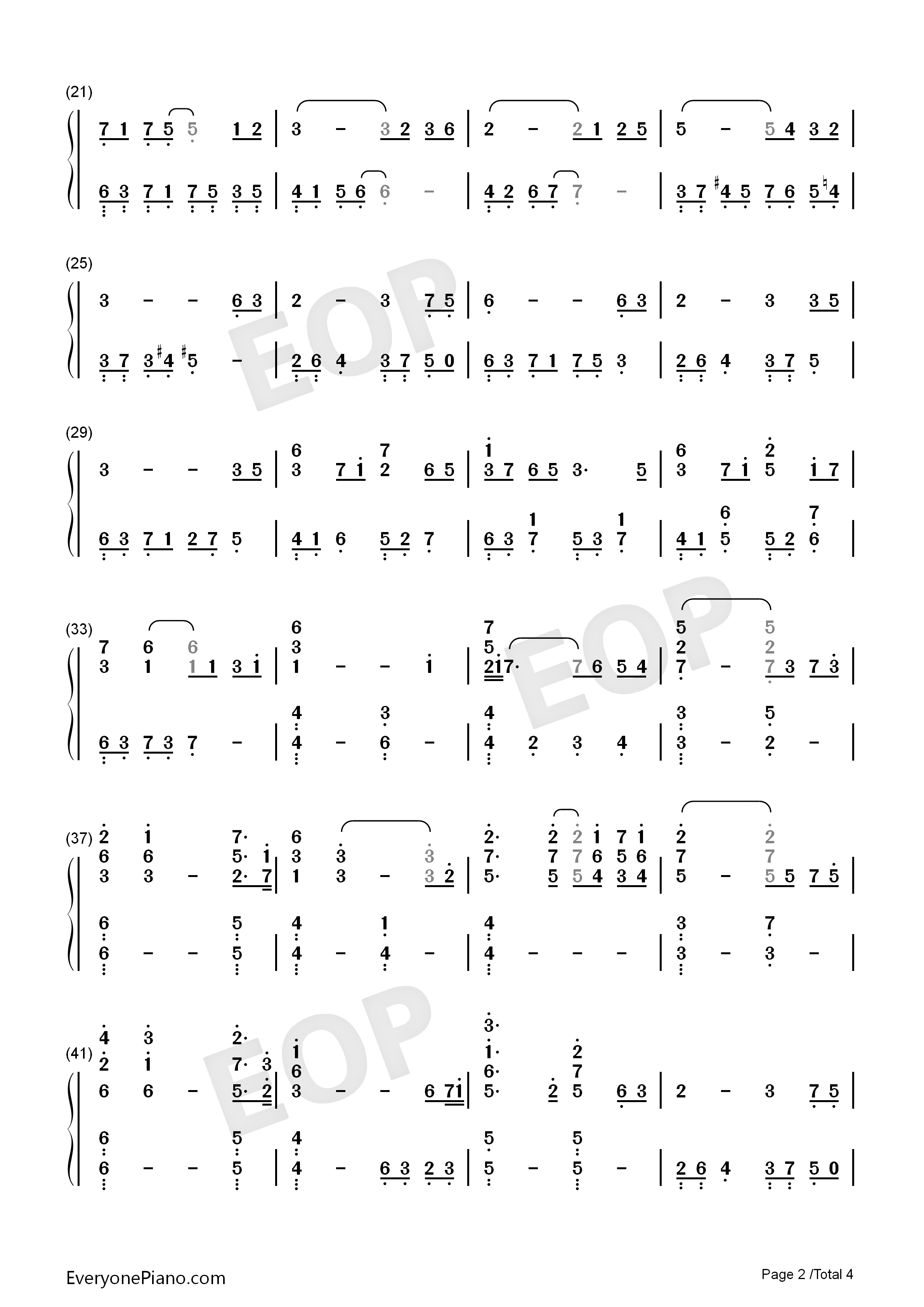 Coming Home-S.E.N.S. Numbered Musical Notation Preview 2
