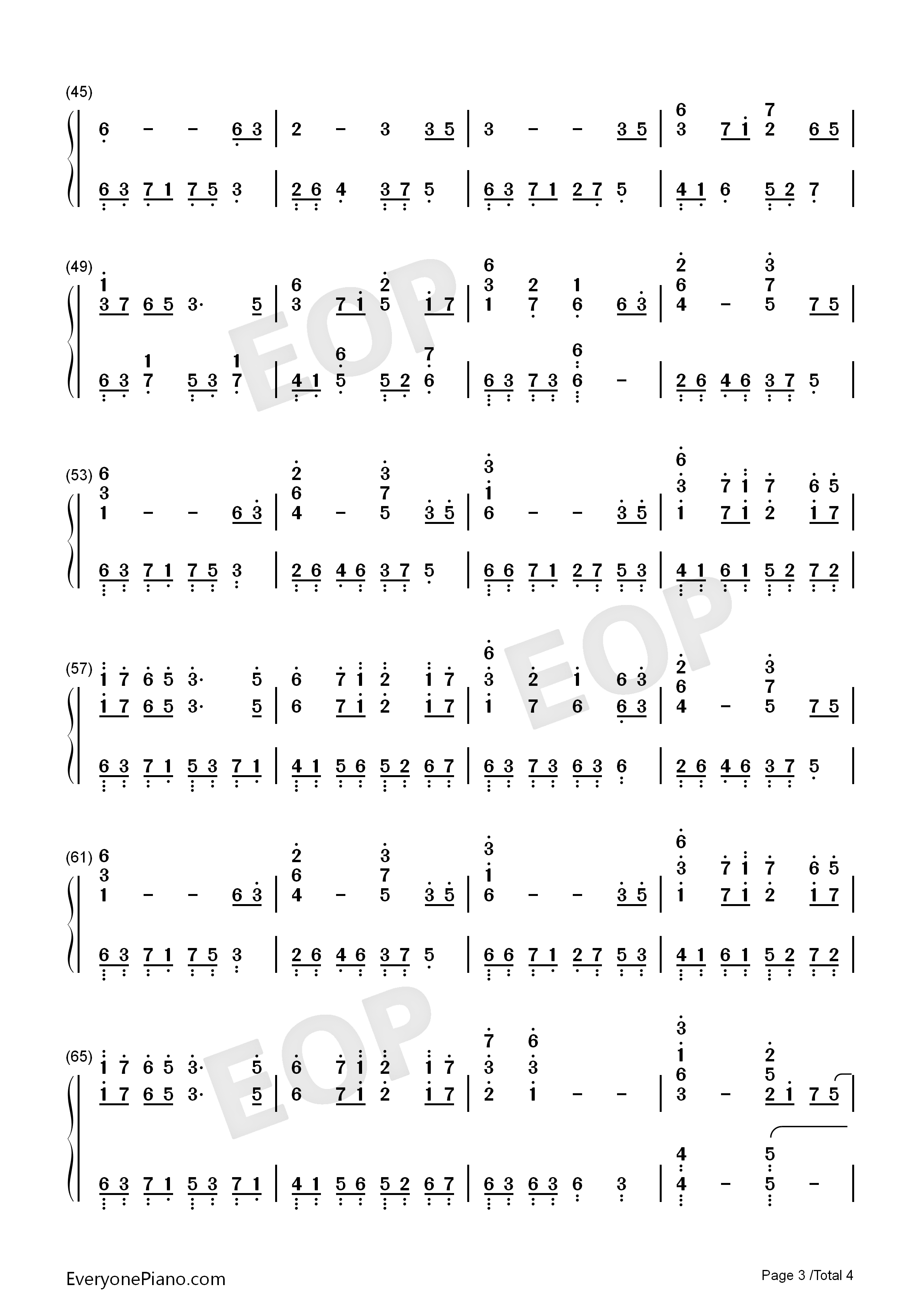 Coming Home-S.E.N.S. Numbered Musical Notation Preview 3