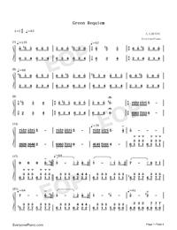 Green Requiem-久石譲両手略譜プレビュー1