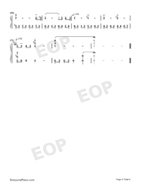 Green Requiem-Joe Hisaishi-Numbered-Musical-Notation-Preview-4