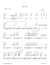 The One-Backstreet Boys Numbered Musical Notation Preview 1