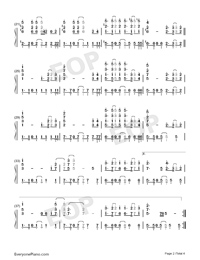 The One-Backstreet Boys Numbered Musical Notation Preview 2