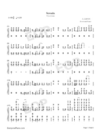 Nevada-Vicetone Numbered Musical Notation Preview 1
