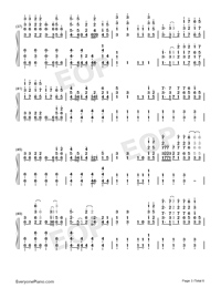 Nevada-Vicetone Numbered Musical Notation Preview 3