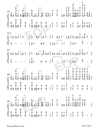 Nevada-Vicetone Numbered Musical Notation Preview 4