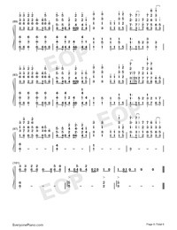 Nevada-Vicetone Numbered Musical Notation Preview 6