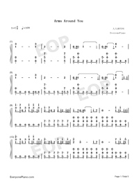Arms Around You-Numbered-Musical-Notation-Preview-1