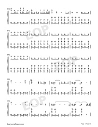 Arms Around You Numbered Musical Notation Preview 4