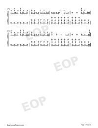 Arms Around You-Numbered-Musical-Notation-Preview-5