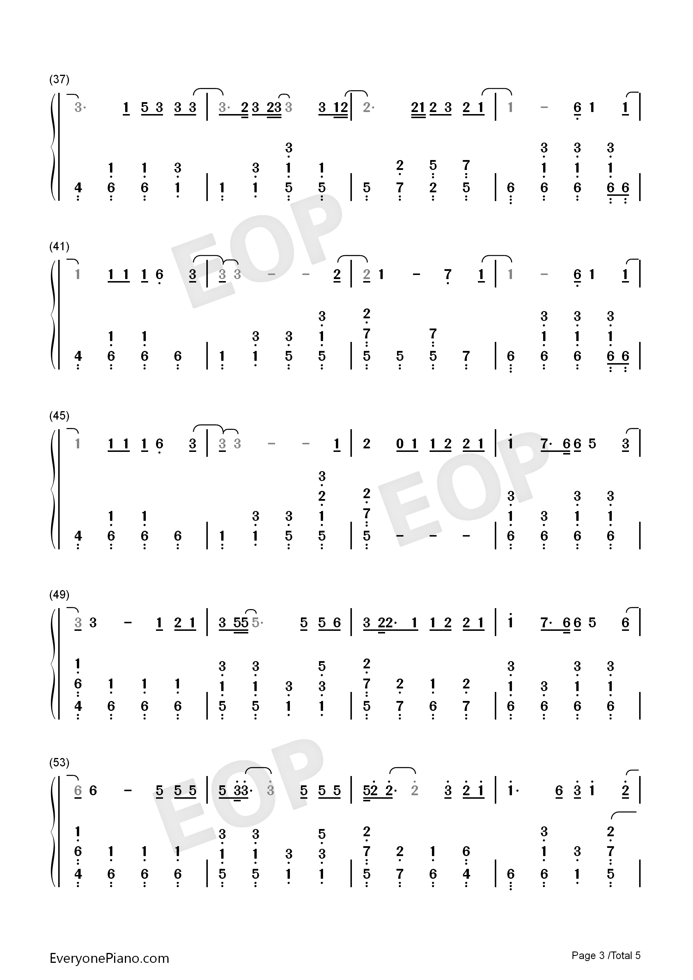 Shadow-Zhang Zhenyuan Numbered Musical Notation Preview 3