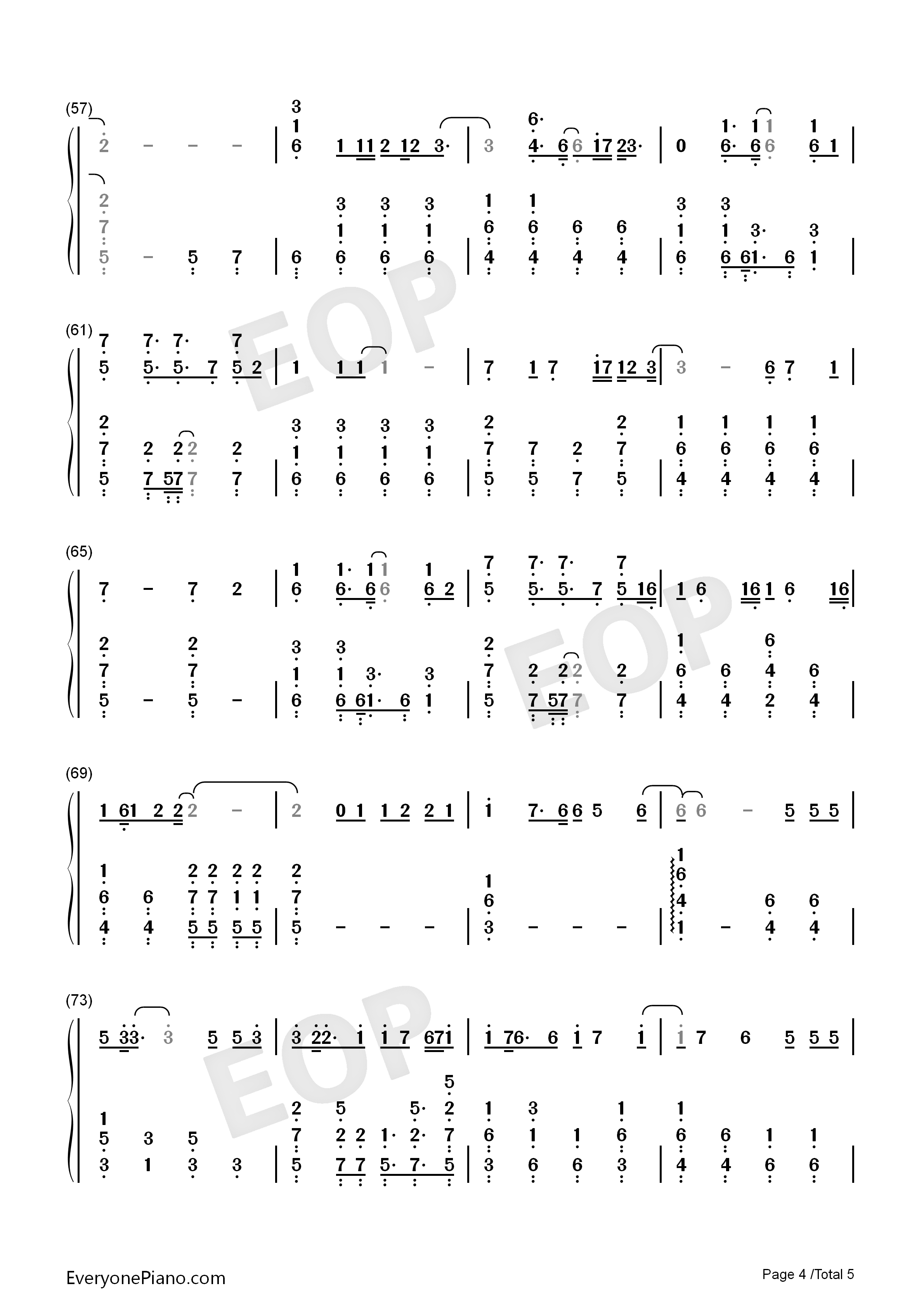Shadow-Zhang Zhenyuan Numbered Musical Notation Preview 4