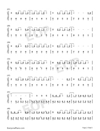 Wedding Invitation Street-Kay Tse Numbered Musical Notation Preview 2