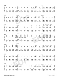 Wedding Invitation Street-Kay Tse Numbered Musical Notation Preview 3