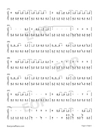 Wedding Invitation Street-Kay Tse Numbered Musical Notation Preview 4