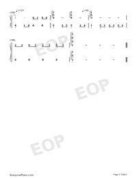 Wedding Invitation Street-Kay Tse Numbered Musical Notation Preview 5