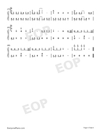 Ren'ai Circulation-Perfect Version Numbered Musical Notation Preview 4