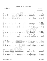 You Can Be My Girlfriend-Cai Xukun-Numbered-Musical-Notation-Preview-1