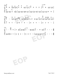 You Can Be My Girlfriend-Cai Xukun-Numbered-Musical-Notation-Preview-4