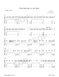 Slow Dancing in the Dark-Joji Free Piano Sheet Music & Piano