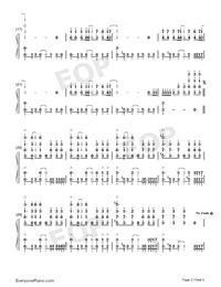 Natural-Imagine Dragons-Numbered-Musical-Notation-Preview-2