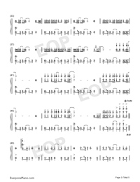 Natural-Imagine Dragons-Numbered-Musical-Notation-Preview-3