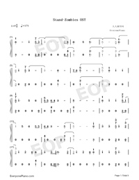 Stand-Zombies OST-Numbered-Musical-Notation-Preview-1