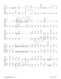 Stand-Zombies OST-Numbered-Musical-Notation-Preview-2
