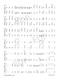 Stand-Zombies OST-Numbered-Musical-Notation-Preview-3