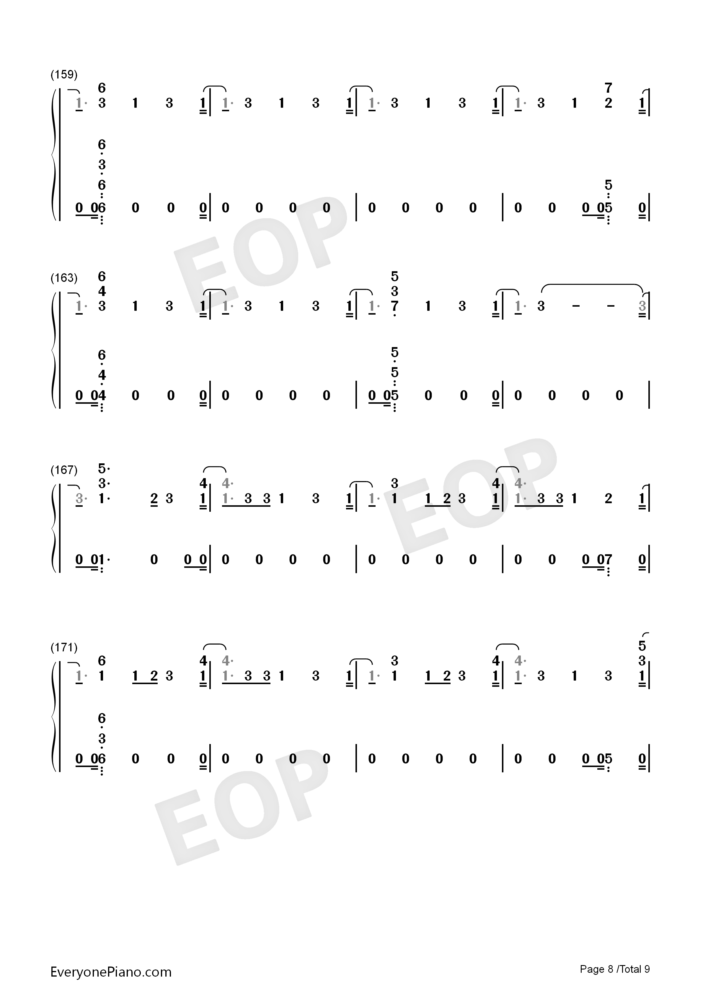 This Is Me-The Greatest Showman OST Numbered Musical Notation Preview 8