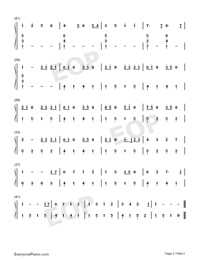 Lemon-Easy Version Numbered Musical Notation Preview 2