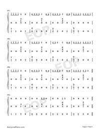 Anxiety-Julia Michaels ft Selena Gomez Numbered Musical Notation Preview 6