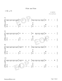 Fire on Fire-Watership Down Theme-Numbered-Musical-Notation-Preview-1
