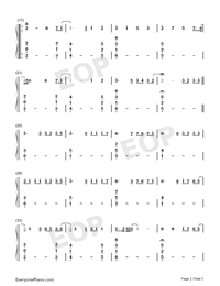 Fire on Fire-Watership Down Theme-Numbered-Musical-Notation-Preview-2