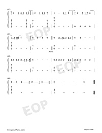 Fire on Fire-Watership Down Theme-Numbered-Musical-Notation-Preview-3