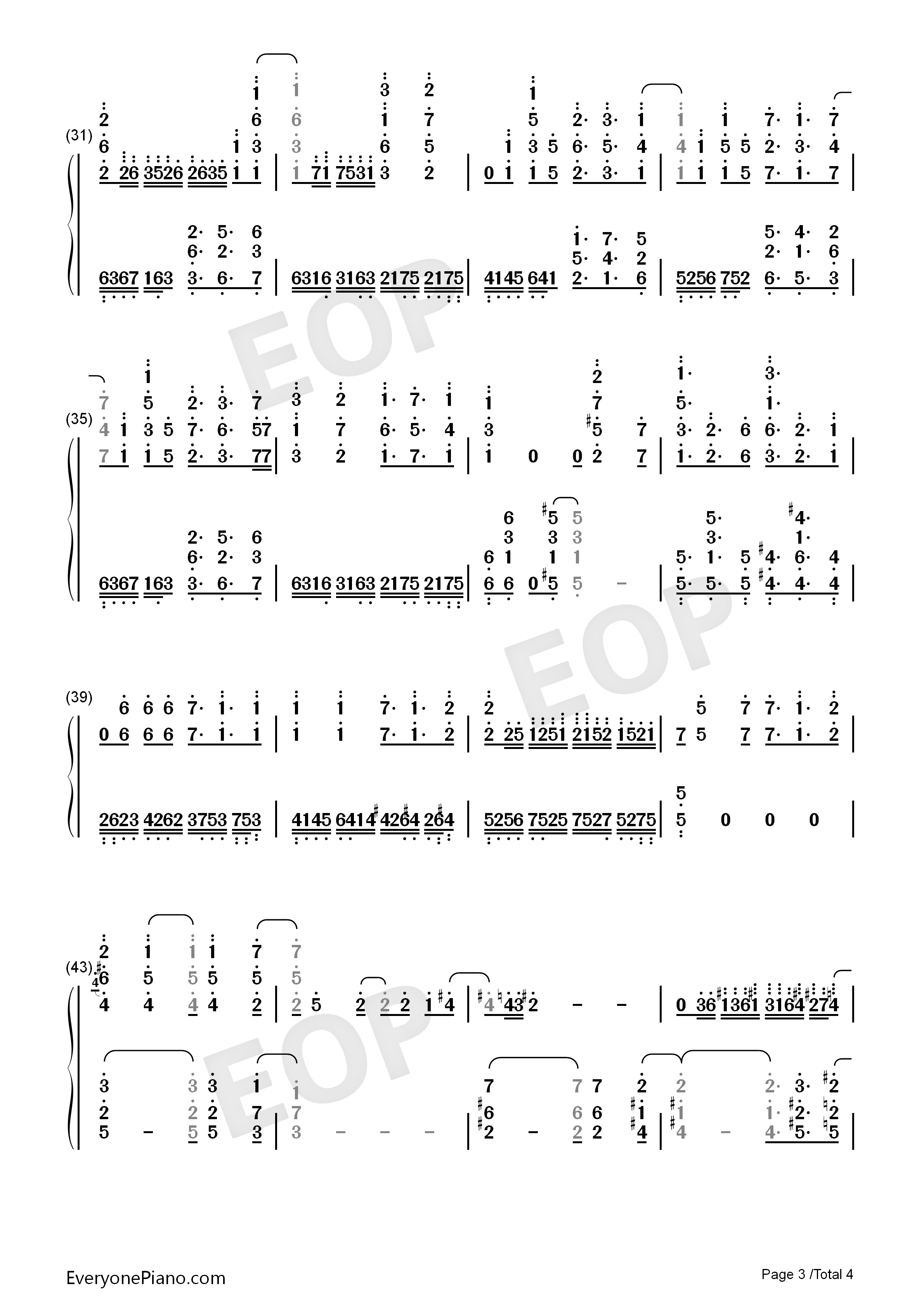 Colorful Wing-Girly Air Force ED Numbered Musical Notation Preview 3