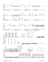 Bohemian Rhapsody-Perfect Version Numbered Musical Notation Preview 3