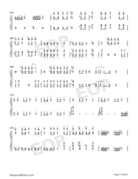 Bohemian Rhapsody-Perfect Version Numbered Musical Notation Preview 5