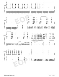Bohemian Rhapsody-Perfect Version Numbered Musical Notation Preview 7