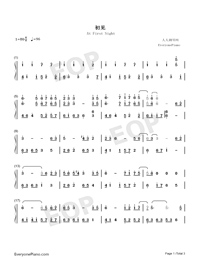 At First Sight-East Palace Theme-Numbered-Musical-Notation-Preview-1